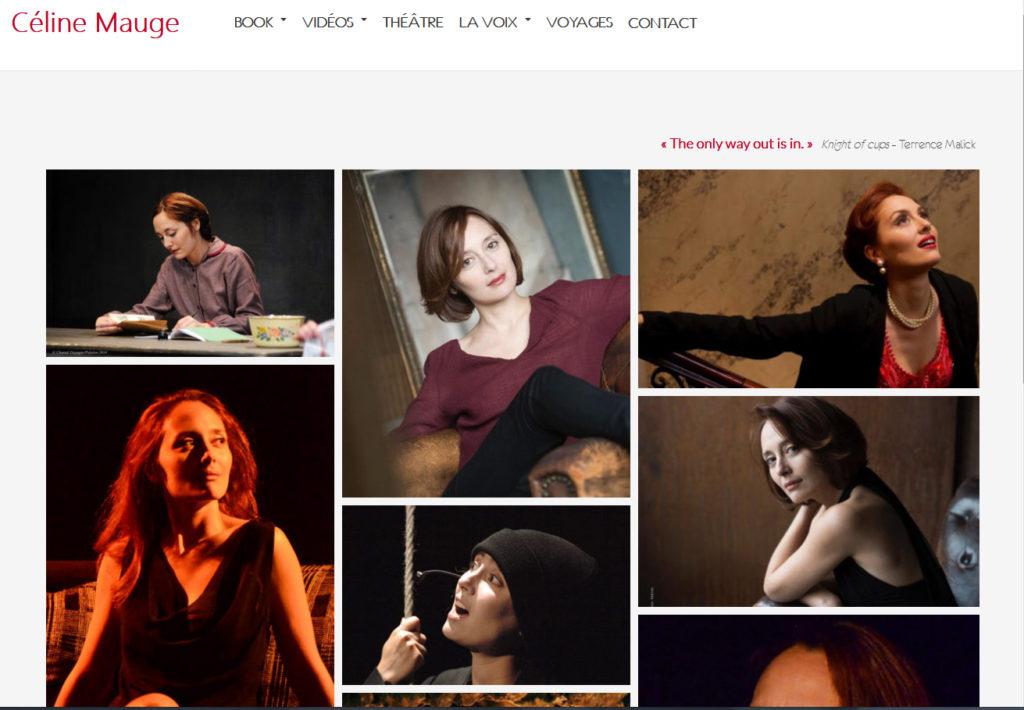 Site de la comedienne Céline Mauge