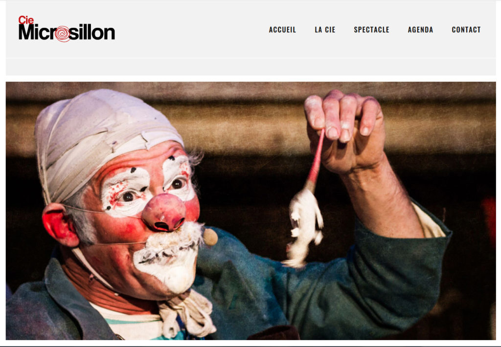 Site de la compagnie Microsillons - Bobitch le clown