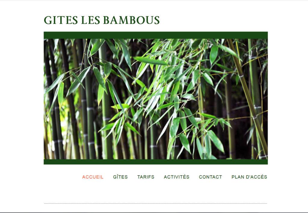 Site du gite Les Bambous à la Levade dans le Gard