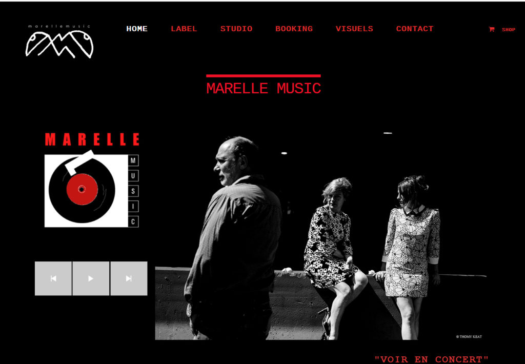 Site du label musical Marelle Music