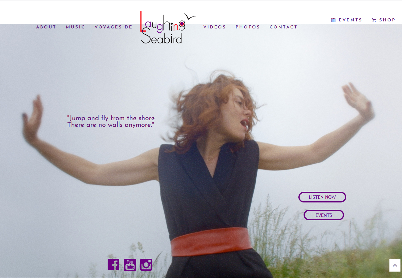 Site web de la chanteuse Laughing Seabird